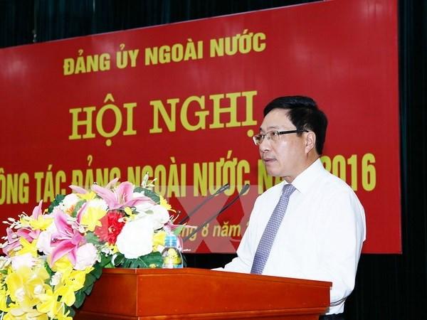 Conference de travail en 2016 du Comite du Parti a l'etranger hinh anh 1