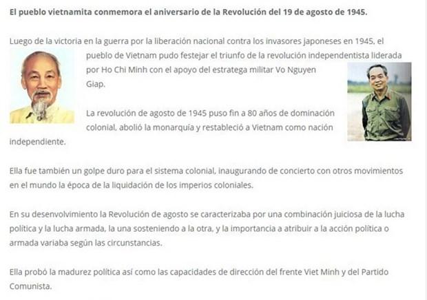 La presse argentine relate la Revolution d'Aout 1945 du Vietnam hinh anh 1