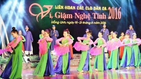 """Ouverture du festival de chants populaires """"vi"""" et """"giam"""" de Nghe Tinh 2016 hinh anh 1"""