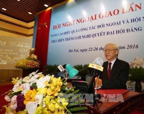 Ouverture de la 29e conference sur la diplomatie a Hanoi hinh anh 1