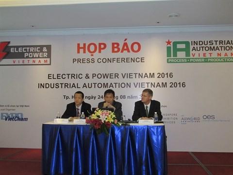 Salon international de l'electricite et de l'automatisation industrielle 2016 hinh anh 1