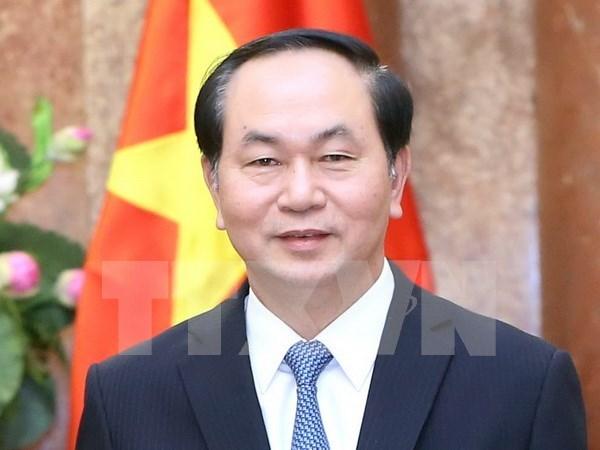 Interview du president Tran Dai Quang accordee a l'AFP avant la visite de son homologue francais hinh anh 1