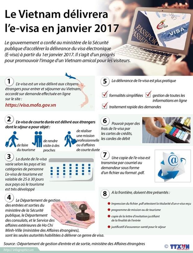 L'e-visa pour le Vietnam sera delivre a partir de janvier 2017 hinh anh 1