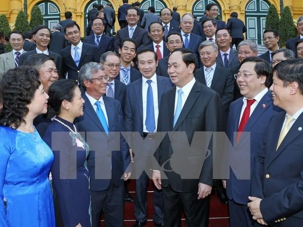 Le president rencontre des chefs de representations a l'etranger hinh anh 1