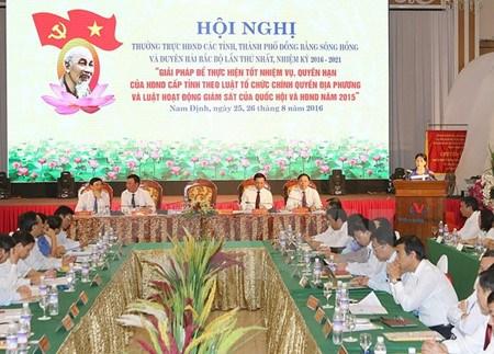 Nguyen Thi Kim Ngan travaille avec les autorites de Nam Dinh hinh anh 2