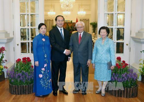 Porter a une nouvelle hauteur le Partenariat strategique Singapour-Vietnam hinh anh 1