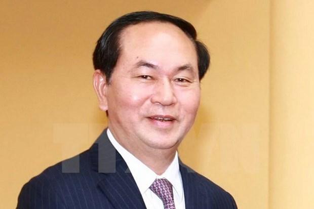 Valoriser la force d'union nationale dans l'edification et la defense nationales, dit le president hinh anh 1