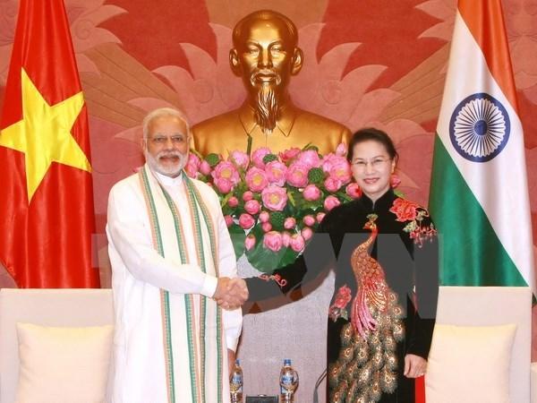 La presidente de l'AN vietnamienne recoit le Premier ministre indien Narendra Modi hinh anh 1