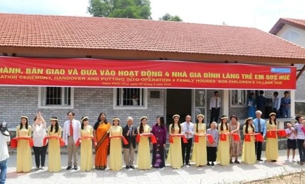Mise en service de quatre maisons du cœur dans le Village d'enfants SOS de Hue hinh anh 1