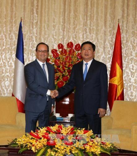 Ho Chi Minh-Ville accueille le president francais Francois Hollande hinh anh 1