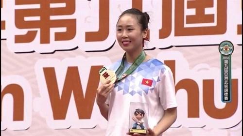 Le Vietnam remporte quatre medailles d'or aux Championnats d'Asie de wushu hinh anh 1