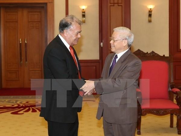 Nguyen Phu Trong recoit le coordinateur national du Parti du Travail du Mexique hinh anh 1
