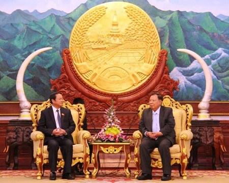 Le plus haut dirigeant laotien recoit un vice-president de l'AN vietnamienne hinh anh 1