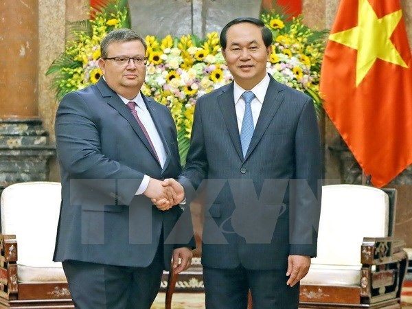 Le president Tran Dai Quang recoit le procureur du Parquet supreme bulgare hinh anh 1