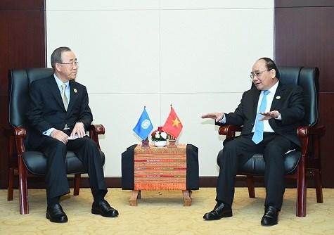Le PM vietnamien rencontre son homologue australien et le chef de l'ONU hinh anh 2