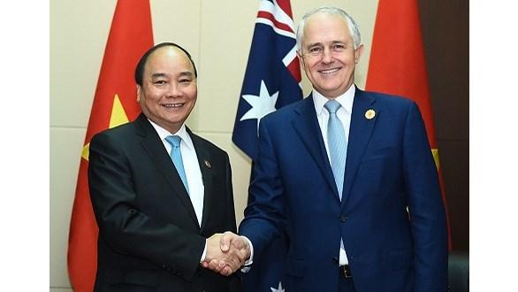 Le PM vietnamien rencontre son homologue australien et le chef de l'ONU hinh anh 1