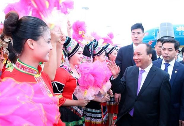Le PM Nguyen Xuan Phuc est arrive a Nanning pour commencer sa visite officielle en Chine hinh anh 1