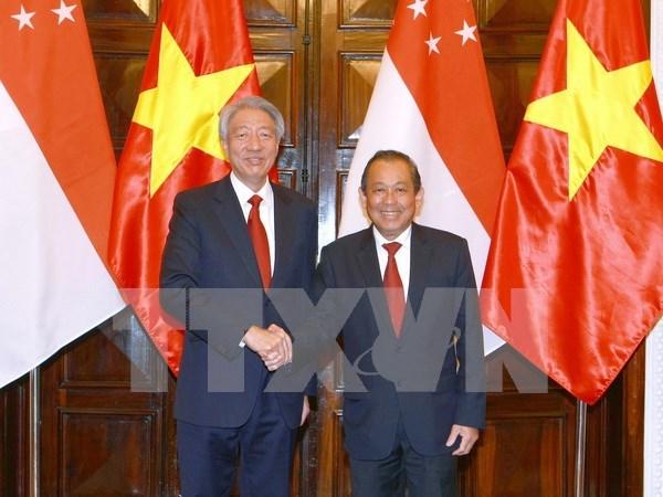 Vietnam et Singapour dynamisent leur cooperation multiforme hinh anh 3