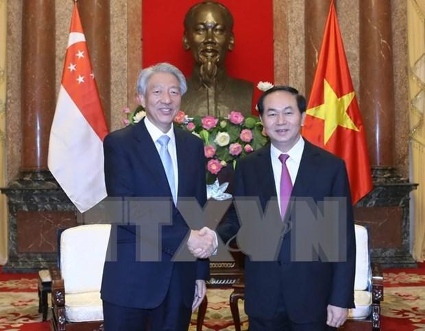 Vietnam et Singapour dynamisent leur cooperation multiforme hinh anh 1