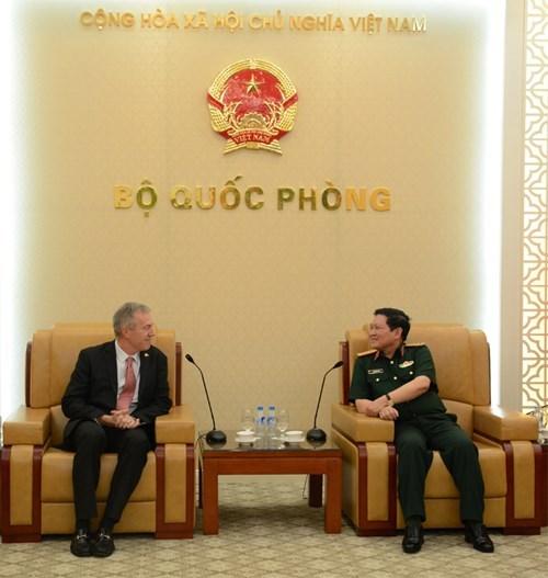 Le ministre de la Defense recoit l'ambassadeur americain hinh anh 1