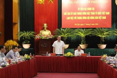 Nguyen Thien Nhan travaille avec l'Association des agriculteurs hinh anh 1