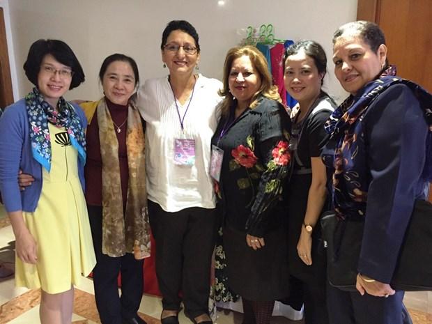 Le Vietnam au congres de la Federation democratique internationale des femmes en Colombie hinh anh 1