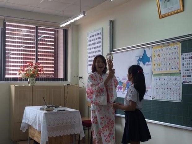 Hanoi : le japonais et le coreen au programme scolaire officiel hinh anh 1