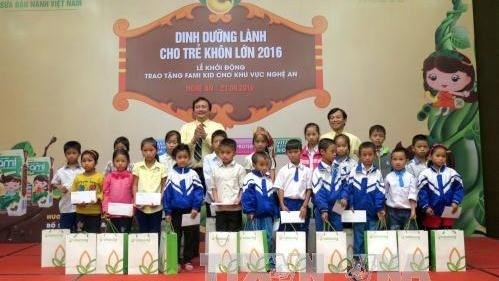 Du lait pour les enfants de la province de Nghe An hinh anh 1