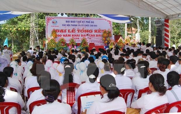 Le 90e anniversaire de la fondation du caodaisme celebre a HCM-Ville hinh anh 1