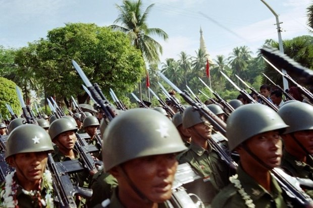 Le Myanmar procede a une manœuvre militaire conjointe hinh anh 1