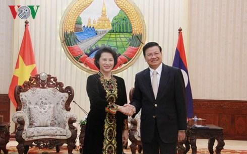 Le Vietnam accorde la plus haute priorite aux relations avec le Laos hinh anh 1