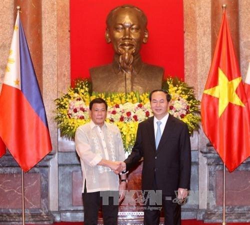 Entretien Tran Dai Quang et Rodrigo Roa Duterte hinh anh 1