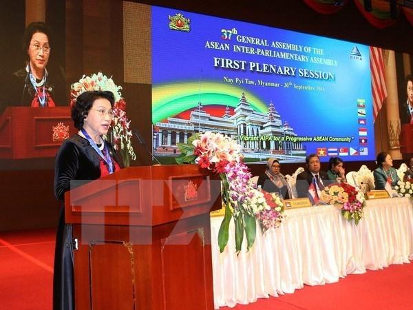 La presidente de l'AN salue les apports de la diaspora vietnamienne aux relations VN-Myanmar hinh anh 1