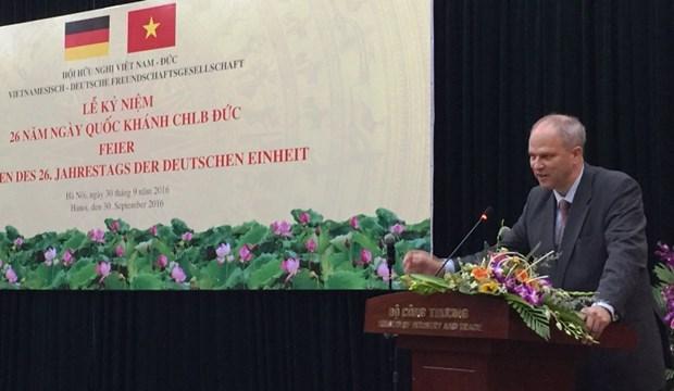 La Fete nationale de l'Allemagne celebree a Hanoi hinh anh 1