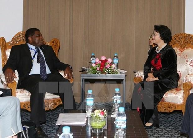 AIPA-37: Nguyen Thi Kim Ngan rencontre le Secretaire general de l'UIP hinh anh 1