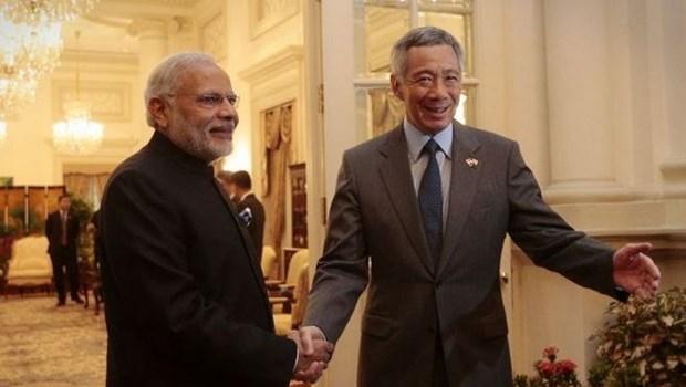 Le Premier ministre singapourien Lee Hsien Loong en visite officielle en Inde hinh anh 1