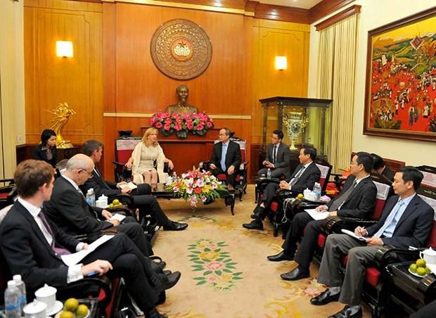 Des dirigeants vietnamiens recoivent une deputee britannique hinh anh 2
