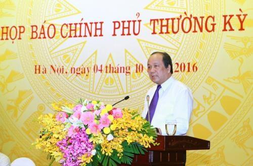 Gouvernement: conference de presse portent sur des questions brulantes hinh anh 1