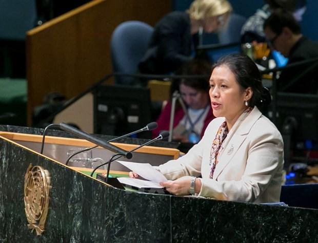 Le Vietnam appelle la communaute internationale a edifier un monde de paix et de securite hinh anh 1