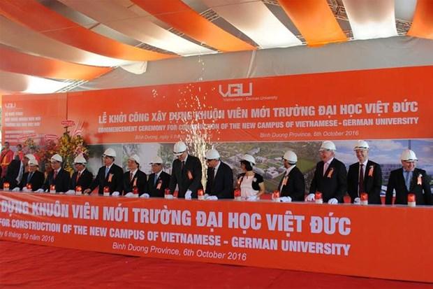 Mise en chantier de l'Universite Vietnam-Allemagne a Binh Duong hinh anh 1