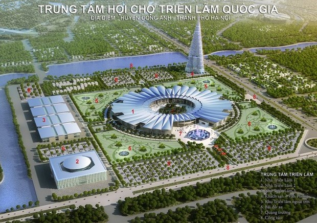 Hanoi: construction du plus grand centre des expositions d'Asie hinh anh 1