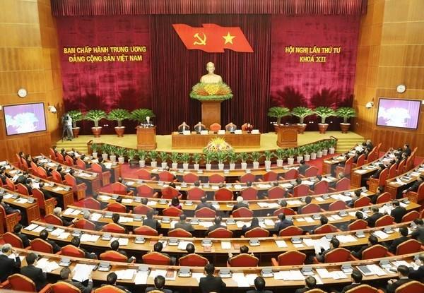 Ouverture du 4e Plenum du Comite central du Parti communiste du Vietnam hinh anh 1