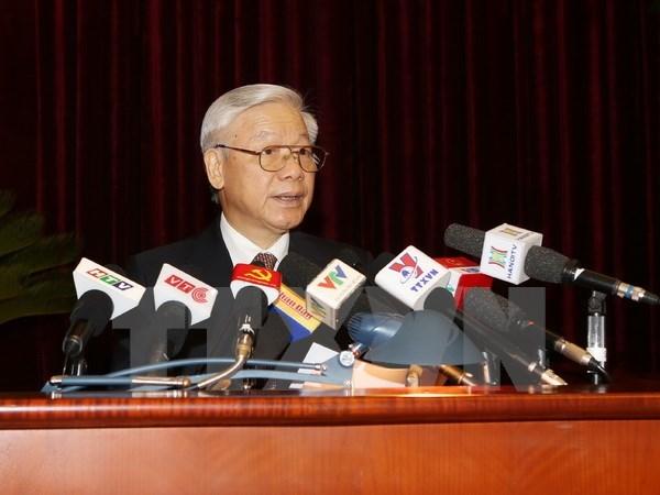 La tache centrale est le developpement socieconomique (secretaire general du PCV) hinh anh 1
