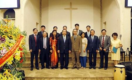 Voeux a l'antenne hanoienne de l'Eglise evangelique du Vietnam hinh anh 1