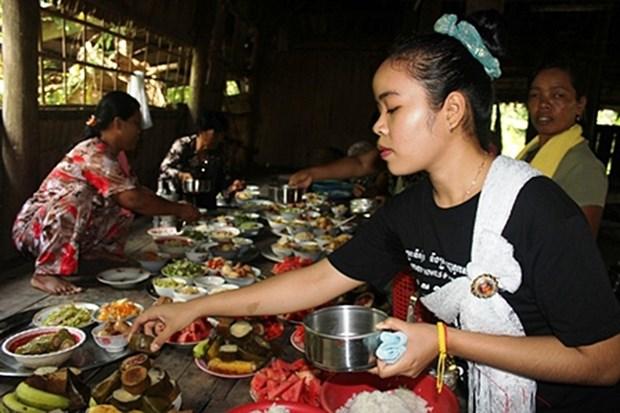 La fete Pithi Sene Dolta des Khmer a Tra Vinh hinh anh 1