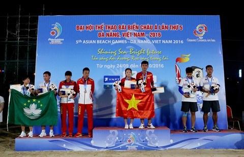 Jeux asiatiques de plage, une performance en trompe-l'œil hinh anh 2