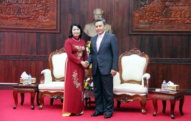 Vietnam-Laos : cooperation entre les deux Fronts de la Patrie hinh anh 1