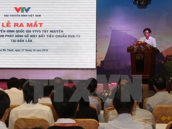Lancement de la chaine de television nationale VTV5 Tay Nguyen hinh anh 1