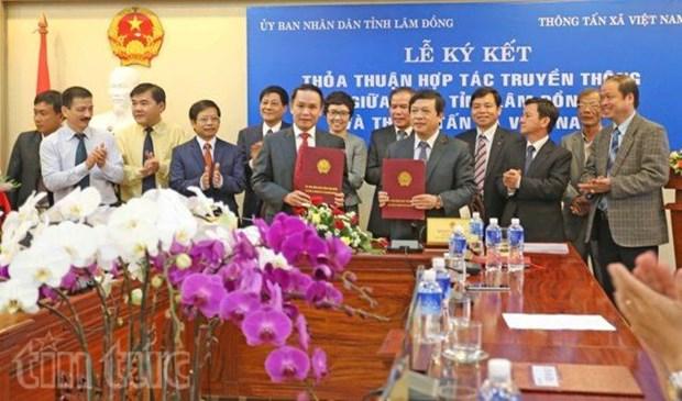 Communication : cooperation entre la VNA et la province de Lam Dong hinh anh 1