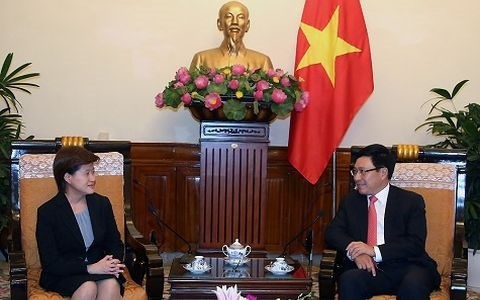 Le vice-Premier ministre Pham Binh Minh recoit l'ambassadeur singapourien hinh anh 1